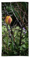 Spring Tulip Bud Hand Towel