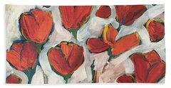 Spring Tulip Garden Bath Towel