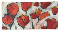 Spring Tulip Garden Hand Towel