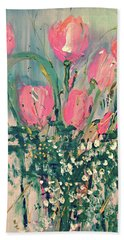 Spring Tulips Hand Towel