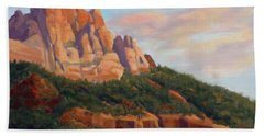 Springdale Sunset On Johnson Mountain Hand Towel