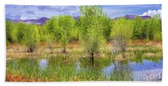 Springtime At Bosque Del Apache Bath Towel