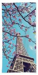 Springtime In Paris - Eiffel Tower Photograph Hand Towel by Melanie Alexandra Price