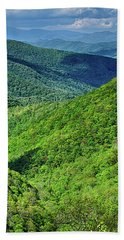 Springtime In The Blue Ridge Mountains Hand Towel
