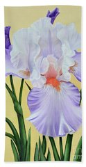 Springtime Iris Hand Towel by Jimmie Bartlett