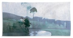 Bath Towel featuring the painting Springtime by John Henry Twachtman