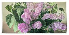 Springtime Lilacs Bath Towel