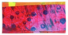 Bath Towel featuring the painting Square Collage No. 12 by Nancy Merkle