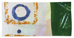 Hand Towel featuring the mixed media Square Collage No 2 by Nancy Merkle