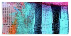 Bath Towel featuring the painting Square Collage No 4 by Nancy Merkle