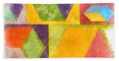 Square Cubes Abstract Bath Towel