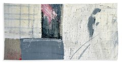 Bath Towel featuring the painting Square Study Project 12 by Michelle Calkins