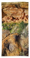 Bath Towel featuring the photograph Square Tower House At Mesa Verde National Park - Colorado - Pueblo by Jason Politte