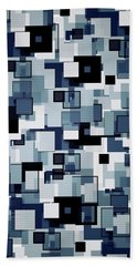 Squares  Hand Towel by Sandy Taylor
