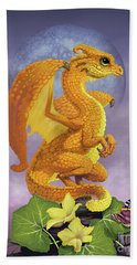 Hand Towel featuring the digital art Squash Dragon by Stanley Morrison