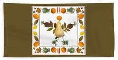Hand Towel featuring the digital art Squash With Pumpkin Head by Lise Winne
