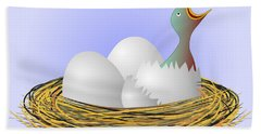 Squeaker Hatching From Eggs Bath Towel