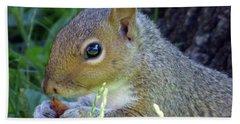 Squirrel Eating Bath Towel