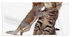 Squirrel Kiss Hand Towel