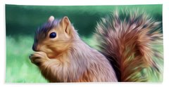 Squirrel Oil Paint Filter 72516 Hand Towel