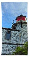 Squirrel Point Lighthouse Bath Towel