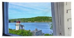 Squirrel Point View From The Deck Bath Towel