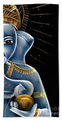 Bath Towel featuring the painting Sri Ganesha by Tim Gainey