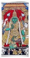 Bath Towel featuring the painting Sri Ramar Pattabhishekam by Ragunath Venkatraman