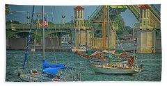 St. Augustine Bridge Of Lions Bath Towel