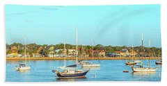 Hand Towel featuring the photograph St Augustine Panorama by Sebastian Musial