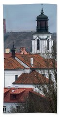 St Bartholomew And Vilnius Castle Hand Towel