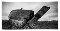 St Cyrus Wreck Bath Towel by Dave Bowman