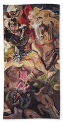 St George And The Dragon Hand Towel