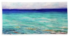 Hand Towel featuring the painting St. George Island Breeze by Ecinja Art Works
