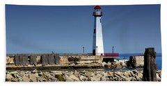 St. Ignace Lighthouse Bath Towel