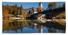 St. John The Baptist On The Lake Bohinj Hand Towel