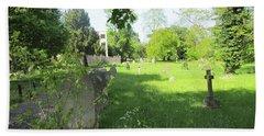 St. Johns Parish Church Cemetery - Harrow Road - Wembley Bath Towel by Mudiama Kammoh