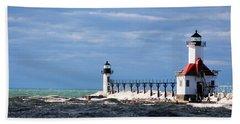 St. Joseph Lighthouse - Michigan Bath Towel
