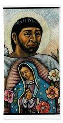 St. Juan Diego And The Virgins Image - Jljdv Bath Towel