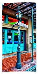 St Louis And Bourbon Streets - New Orleans Bath Towel