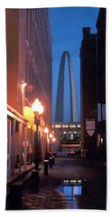 Hand Towel featuring the photograph St. Louis Arch by Steve Karol