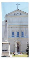 St. Louis Cathedral Back Lawn Bath Towel