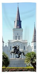 St. Louis Cathedral From Jackson Square Bath Towel