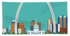 St. Louis Missouri Horizontal Skyline Hand Towel