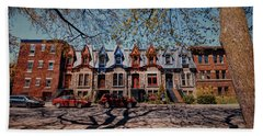 St. Louis Row Houses - Montreal Bath Towel