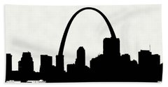 St Louis Silhouette With Boats 2 Bath Towel