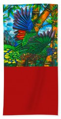 St. Lucia Amazon Parrot - Exotic Bird Hand Towel