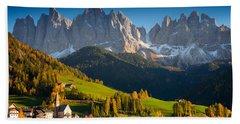 St. Magdalena Alpine Village In Autumn Hand Towel