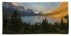St. Mary Lake Bath Towel by Gary Lengyel