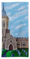 St. Mary's In England Bath Towel by Katherine Young-Beck